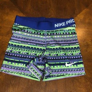 Nike Pro Compression Spandex Shorts Small